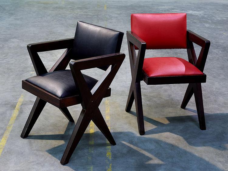 modern furniture design Pierre Jeanneret chandigarh armchair teak compass