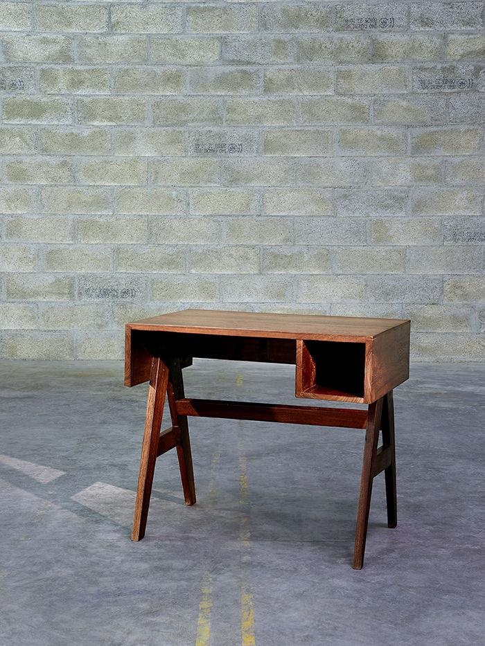 modern furniture design Pierre Jeanneret chandigarh desk teak lateral drawers