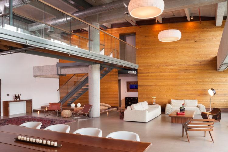 Custom dining table by Camilo Prada for Weston Wood Works in Miami loft renovation.