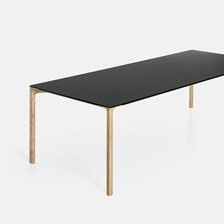 modern furniture design tech Kristalia Boiacca Wood Table