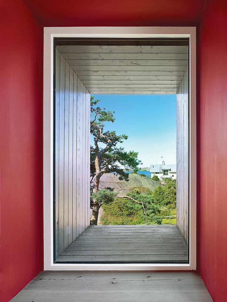 modern fjallbacka sweden pine boxes vacation floor plans