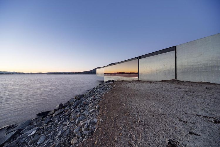 modern architecture design glenorchy sculpture park pavilion glass bay