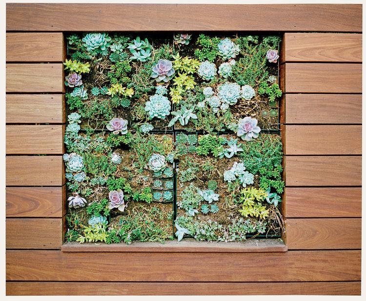 modern landscaping outdoor ipe wood vertical planter