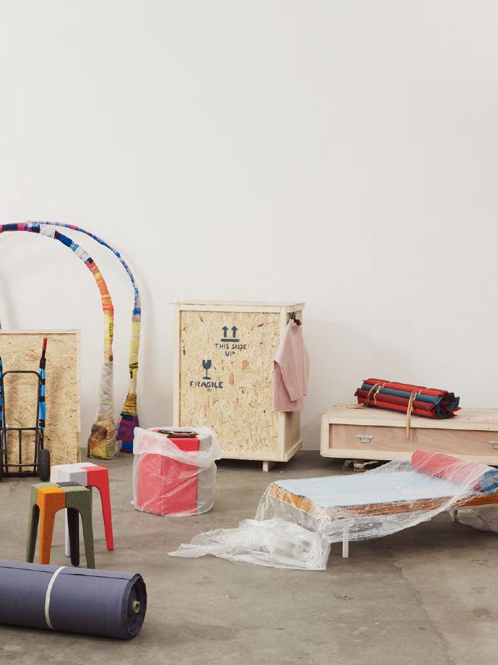 modern fabric textile kvadrat Milan Salone installation