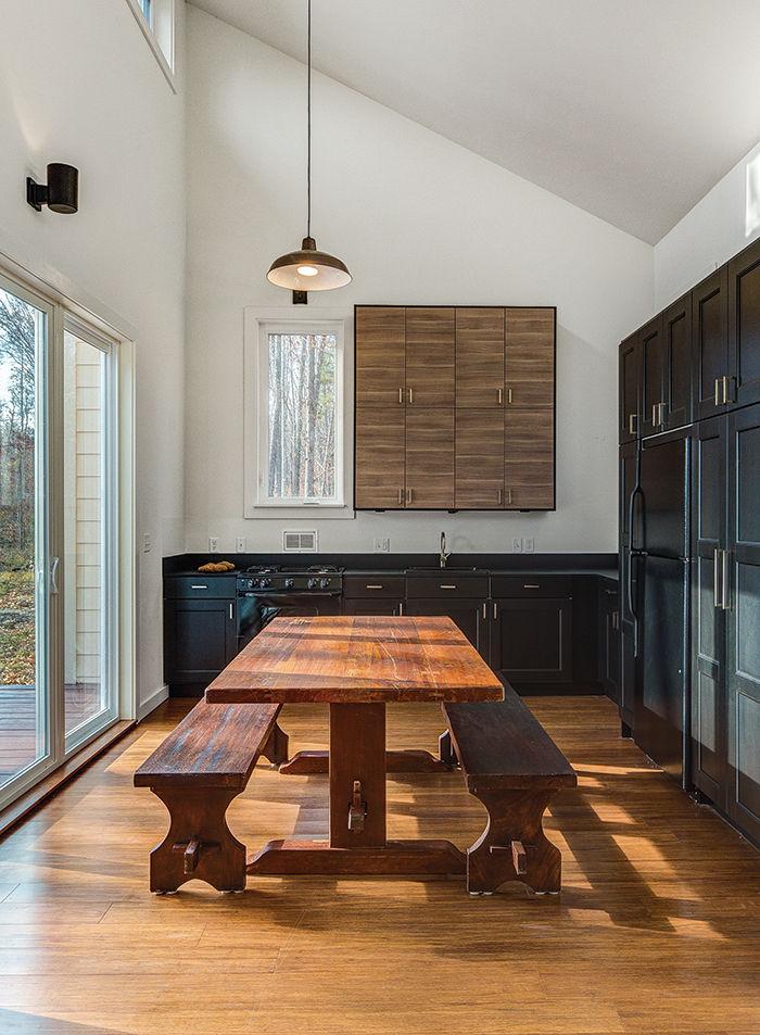 modern green arkansas cabin ikea kitchen cabinets
