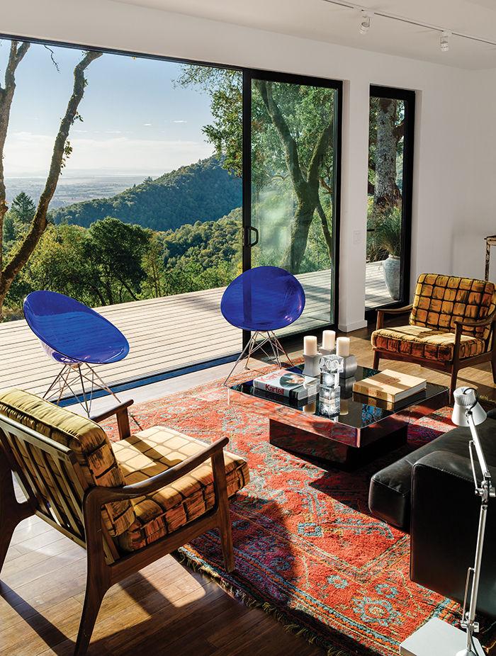 modern design prefab living room eros chairs pushak rug