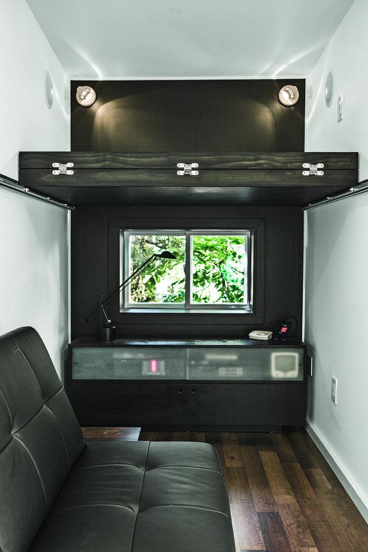 modern landscaping backyard metapod laminate floors desk sleeping loft