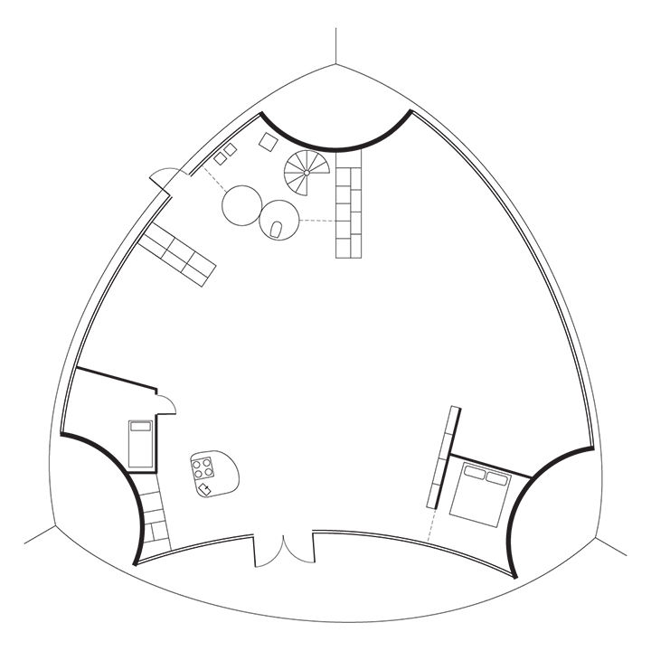modern yrjo kukkapuro finland artek floor plans