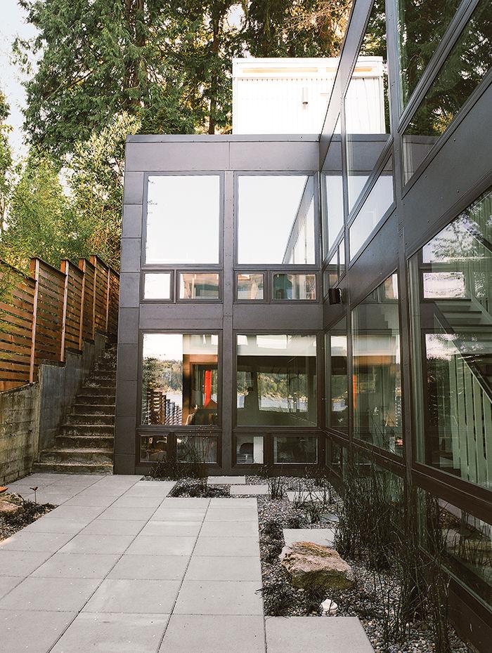 modern renovation aqua lair exterior rock garden pavers