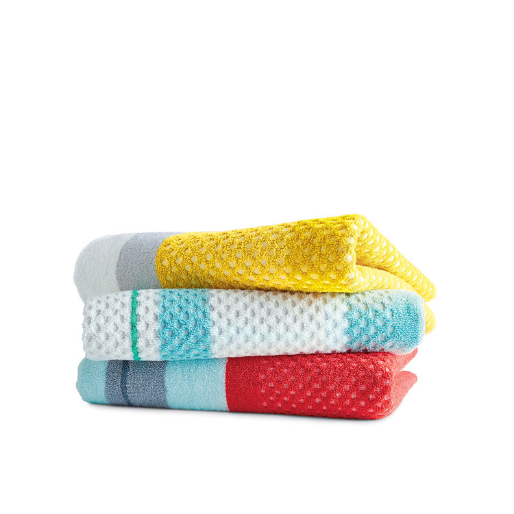 towels hay pastel beach