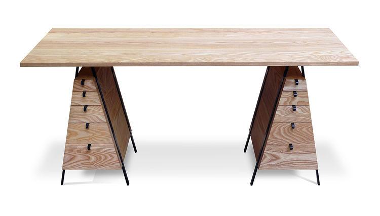 modern design young guns 2014 Casey Lurie secretariat wood desk