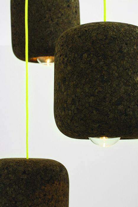 modern design young guns 2014 Tania da Cruz popcork cork pendant lamp