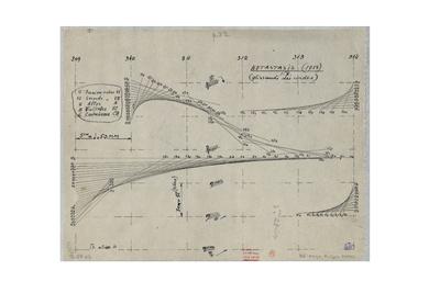 Iannis Xenakis Study for Metastaseis drawing