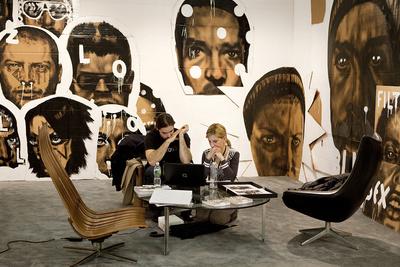 """Ileana_Tounta at the Armory Show, NY 2010. From the Series """"Art Fares"""""""