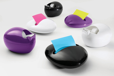 Pebble Tape Dispenser and Post It Holder Karim Rashid