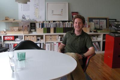 Architect Brett Zamore in his office in Houston, Texas