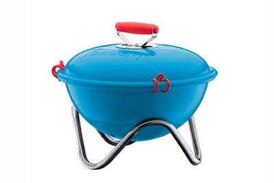 bodum fyrkat charcoal picnic grill blue