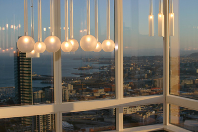 """Lighting installation by <a href=""""http://sandstudios.com/"""">Sand Studio</a> at the 2011 Dwell Design Lab in San Francisco."""