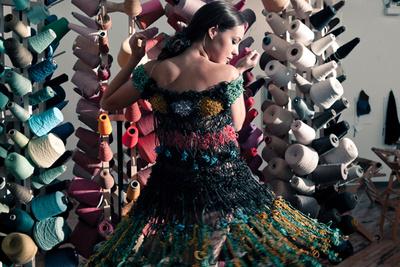 """Margarita Mileva's """"RB Dress II"""" dress will be featured in Berlin's """"Wear is Art"""" fashion show. Photo by Warren Chow."""