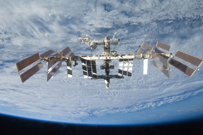 space living station view