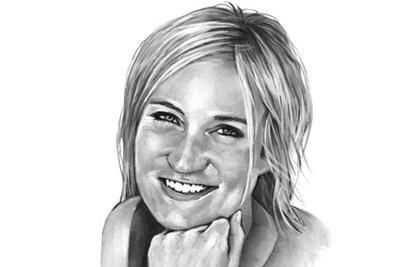 Pia Wustenberg portrait by Bernd Schifferdecker