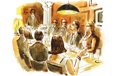 theatrical dining dan williams illustration