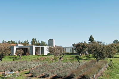 orchard house exterior landscape