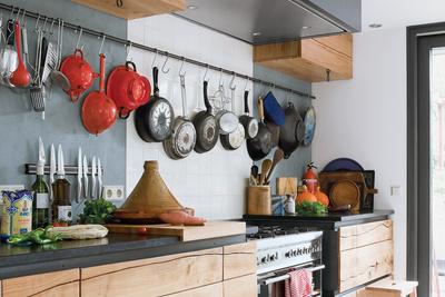 visser van der ende residence houseboat interior kitchen