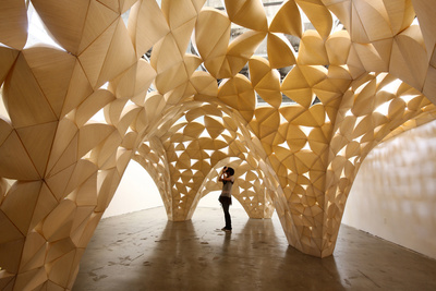 Voussoir Cloud installation by San Francisco firm IwamotoScott Architecture