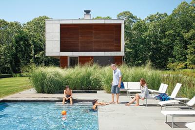 Prefab beach house retreat in Montauk, New York