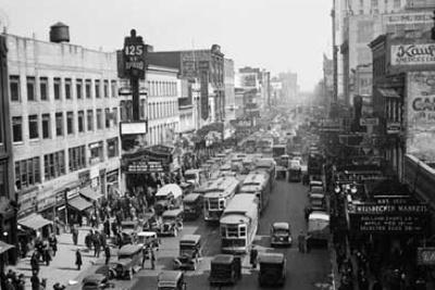 Vintage urban city scene