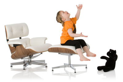 Mini Eames lounge chair by Little Nest