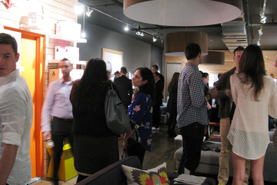 Bobby Berk home, Design Milk, event, crowd, ICFF, AM, Neal Feay