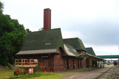 The Union Depot in Keokuk, Iowa