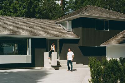 leblanc house exterior house driveway