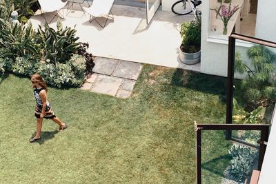 siegal house courtyard arial view