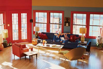 bernier house living room portrait