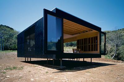 watanbe residence exterior view sliding panels