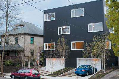 z for two exterior facade  0