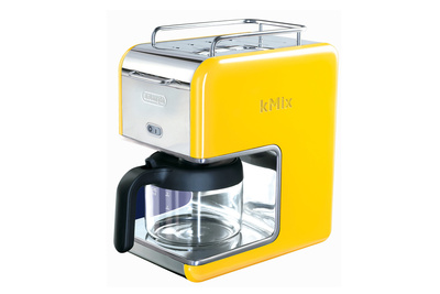 kmix delonghi coffee maker yellow