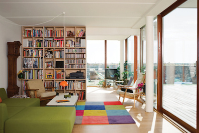 Bjarke Ingels Mountain Dwellings modern living room