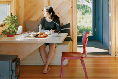porter cottage breakfast nook portrait