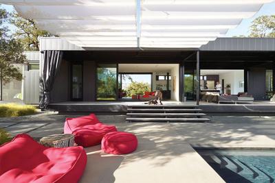 burton residence deck pool shade cloth outside