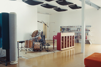 brill house practice area drums piano
