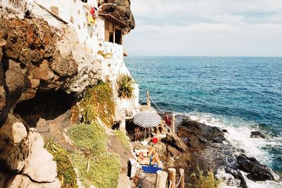 on the rocks sunbathing  1