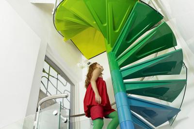 rainbow house stairway