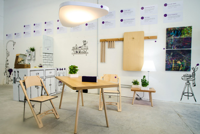 psfk future home a8 peg furniture system with e2 petale light