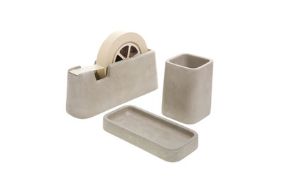 say yes to the desk concrete desk set