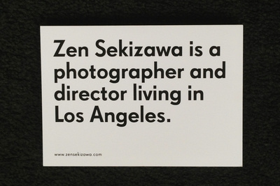Photo promo by photographer Zen Sekizawa