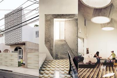 Casa Delpin San Juan Puerto Rico concrete modern construction facade ceiling wall